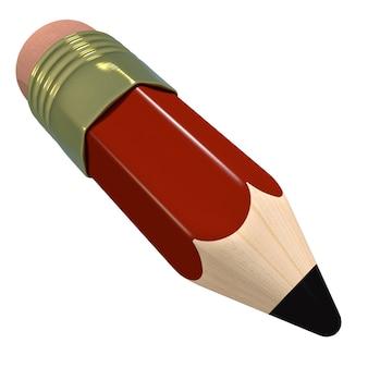 白い背景で隔離のかわいい漫画鉛筆