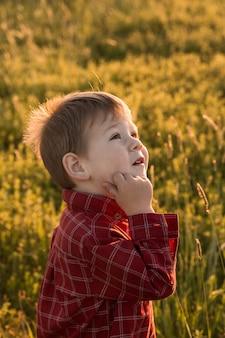 Cute child portrait. super boy. kids face. happy children concept.