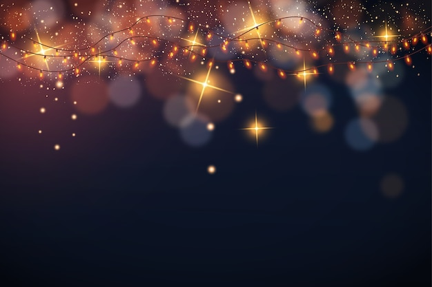 Cute christmas background with bokeh