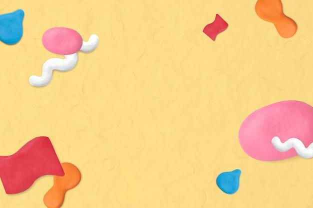 Simpatica cornice modellata in argilla con texture arte creativa fai-da-te per bambini