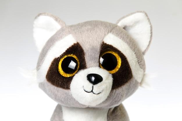 Cute cuddly raccoon toy. raccoon - small plush toy animal