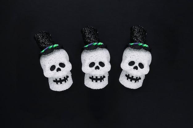 かわいい装飾された頭蓋骨