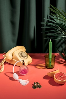 Cute fashion still life arrangement