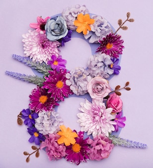 Cute floral arrangement for women's day