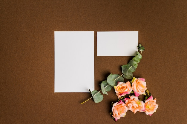 Cute floral decoration with sheets of paper
