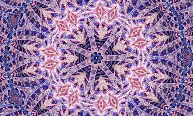Милый цветочный портрет калейдоскопа с фиолетовыми синими и белыми цветами