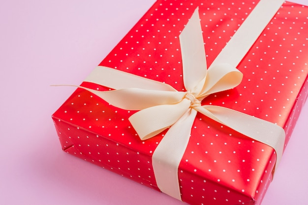 Cute gift with yellow ribbon