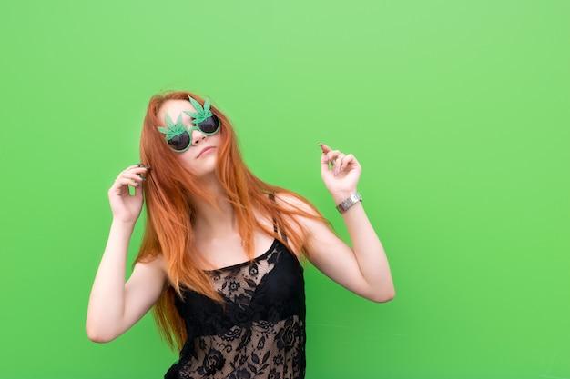 Cute girl in funny sunglasses