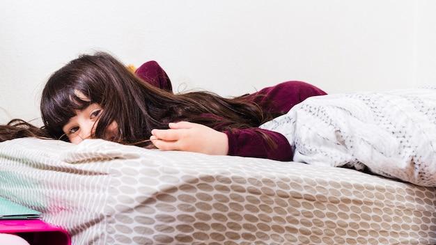 かわいい女の子が寝る