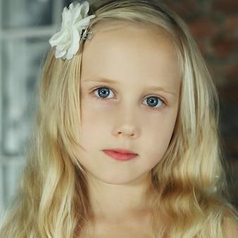 かわいい女の子、肖像画