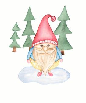 Милая изолированная иллюстрация gnome