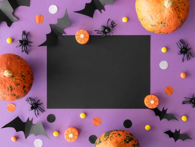 Cute halloween concept with copy space