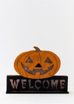 Cute halloween decoration with writing