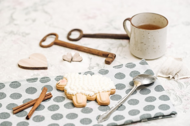 かわいい手作りの動物の形をしたクッキー