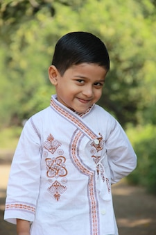 Cute indian child showing expression
