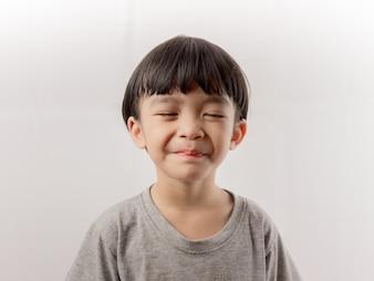 Cute kid girl smiling