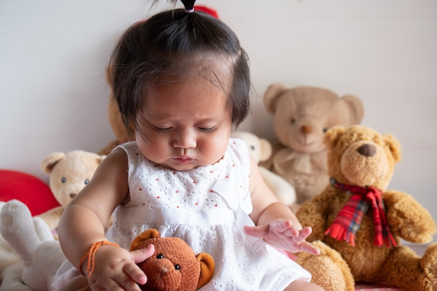 Cute little asian baby girl