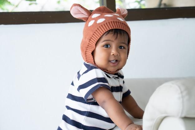 Cute little asian baby