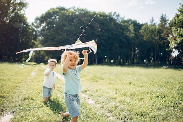 カイトと夏の畑でかわいい子