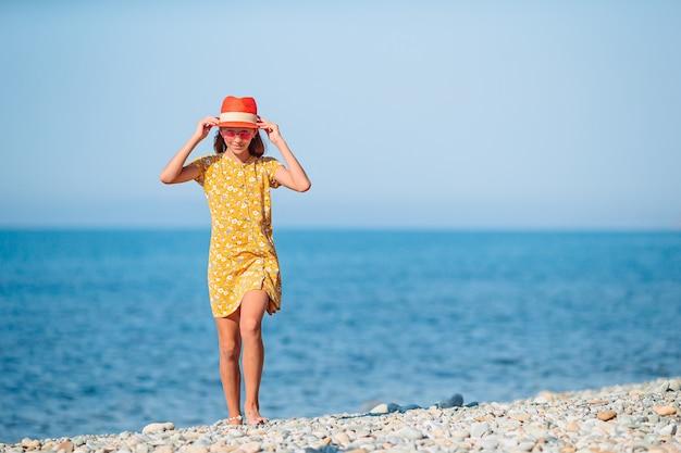 夏休みのビーチでかわいい女の子