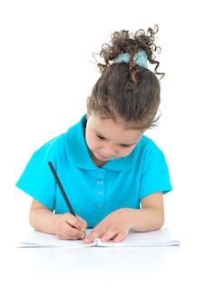 勉強しているかわいい女の子
