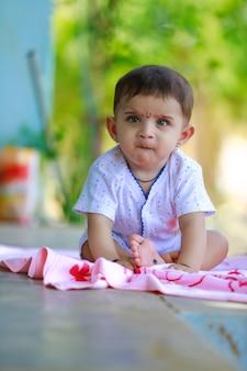 Cute little indian child portrait