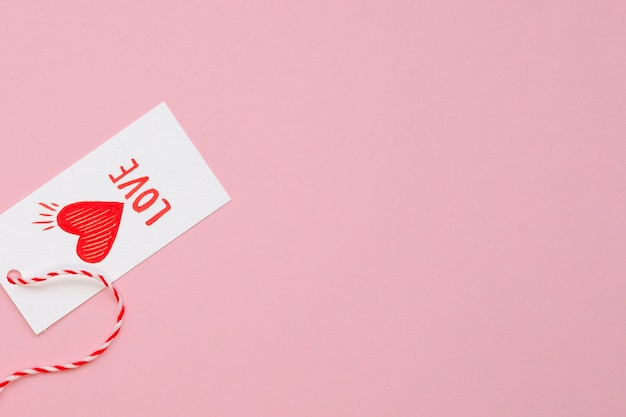 Cute love label with copy space