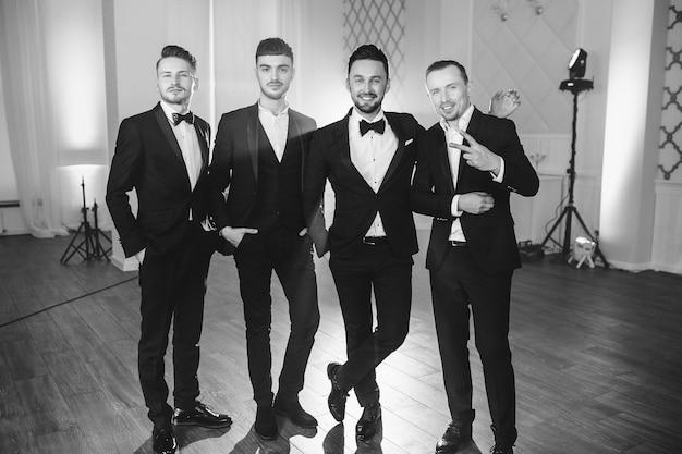 Cute men in suits