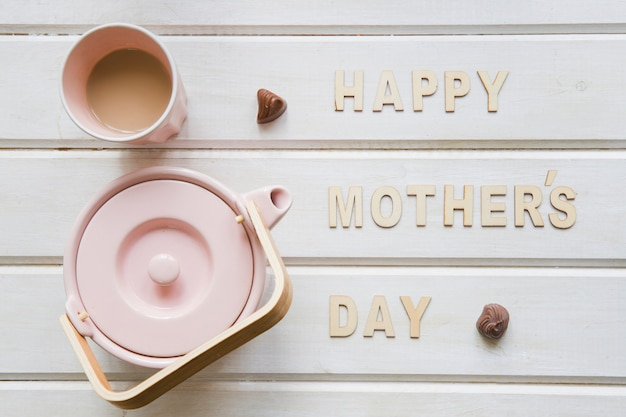 Cute mother day composition