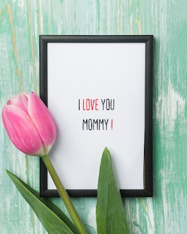 Cute mother's day frame close up