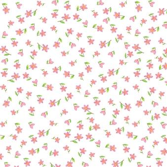 Милый розовый цветочный узор изображения