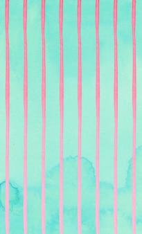 ミントの背景にかわいいピンクのストライプの抽象的なパターン。
