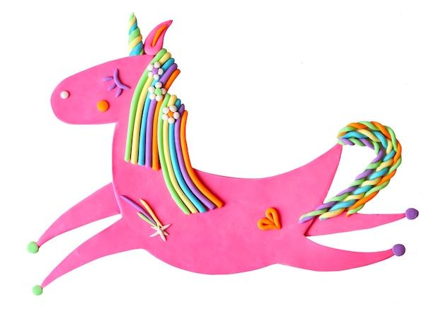 Милый пластилин розовый пони лошадь единорог