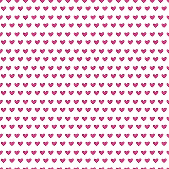 Cute seamless pattern with painted hearts texture.