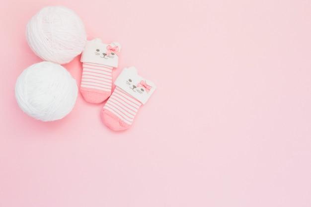 Cute tiny socks and wool