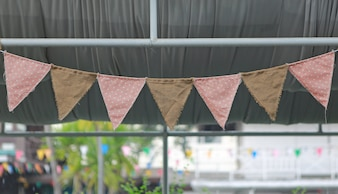 Cute triangle bunting flag.