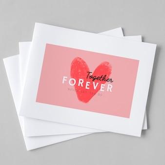 Cute valentines day card design Premium Photo