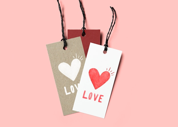 Cute valentines day tag set