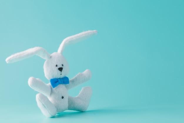 귀여운 흰 토끼 장난감