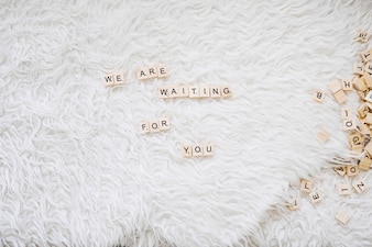 Cute writing about waiting baby