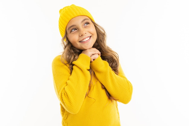 Cuteyoung girl thought on white