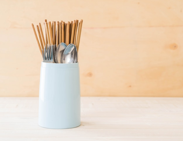 Cutlery holder chopsticks , spoon and fork