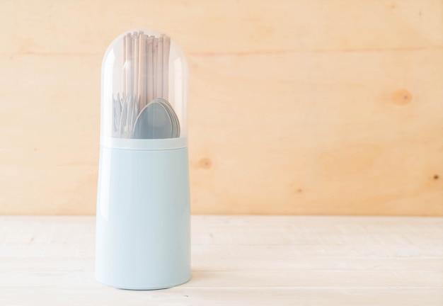 Cutlery holder chopsticks , spoon and fork