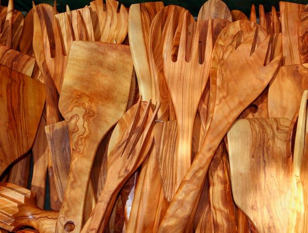 Cutlery olive tree wood spanish traditional kitchenware