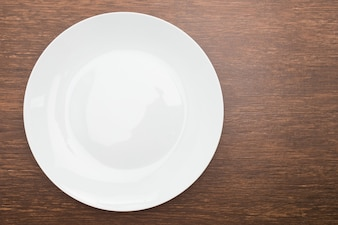 Cutlery overhead wooden dining food