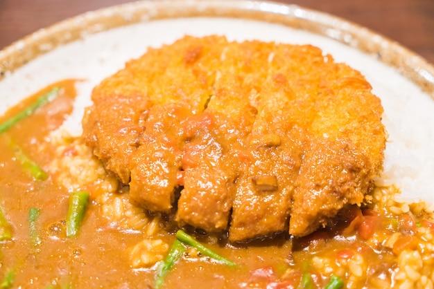ホットカツアジアご飯醤油 無料写真