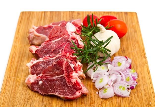 야채와 양고기 커틀릿