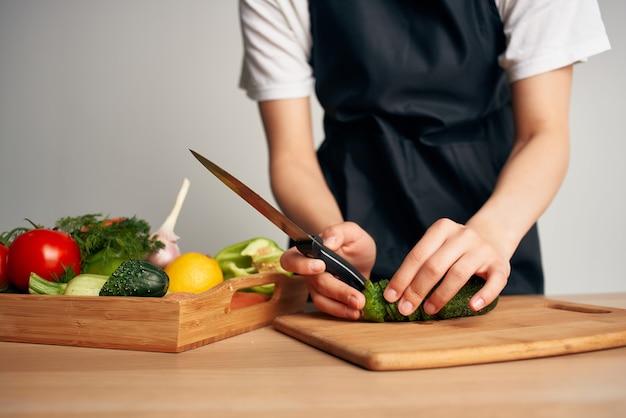 野菜を切るカッティングテーブル調理食品キッチンホーム