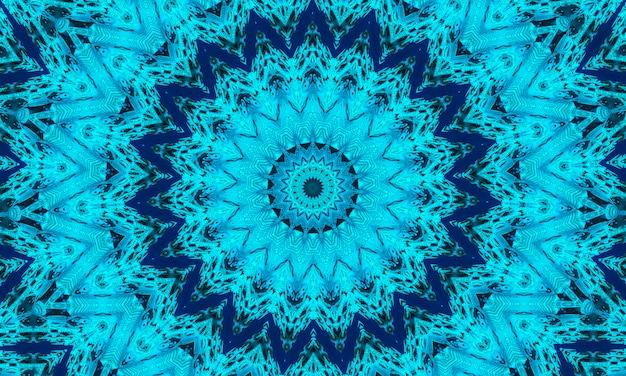 Голубой фон калейдоскопа, подарочная упаковка и концепция обоев