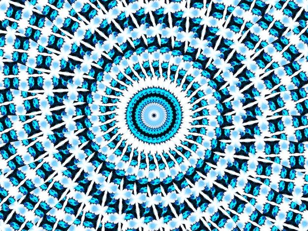 시안 네온 패턴입니다. 원활한 아즈텍 패턴입니다. 귀여운 끝없는 장식. 현대 민속 디자인. 빈티지 보호 디자인. 기하학적 민속 스타일. 인디고, 블랙, 화이트, 시안, 네온 아프리카 아트 드로잉